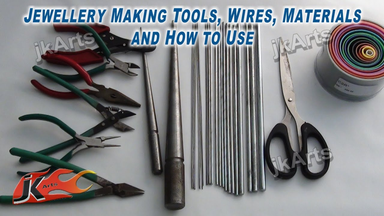 jewellery making tools wires materials and how to use jk arts rh youtube com Wire Jewelry Etsy Wire Wrapping Jewelry Supplies