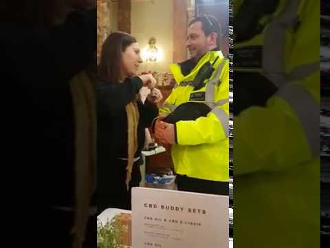 Friendly policeman tries CBD for the first time!