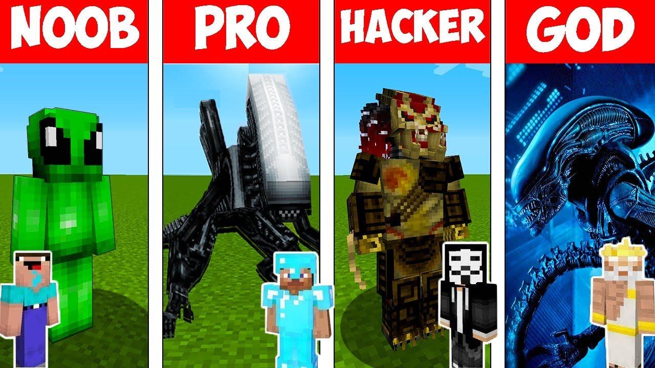 Download Minecraft - NOOB vs PRO vs HACKER vs GOD : ALIEN MUTANT in Minecraft ! AVM SHORTS Animation