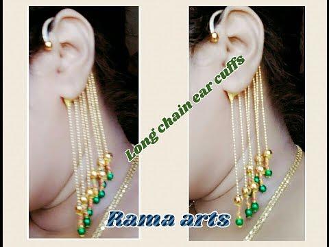 Long Chain Ear Cuffs Making Of Latest Model Jewellery Tutorials
