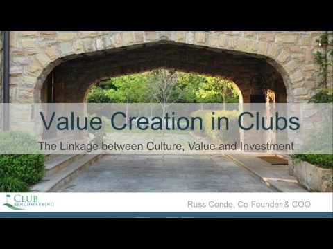 Value Creation in Clubs