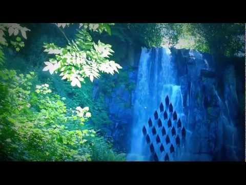 música de relajación, bosque, cascada, naturaleza, montañas, música relajante y melodiosa