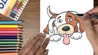 Dạy bé tập vẽ chó con dễ thương