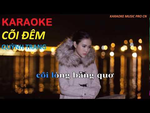 KARAOKE Cõi Đêm - Quỳnh Trang [BEAT GỐC CHUẨN]