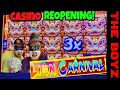 💰JACKPOT STREAMS💰LION CARNIVAL SLOT WINNING! EXCITING FIRST DAY CASINO REOPENING!💰KONAMI