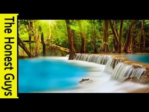 10 HOURS Relaxation Music With Waterfall Sounds for Study, M