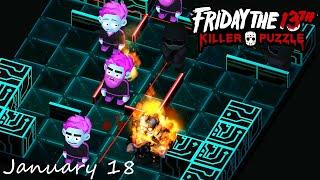 Friday the 13th Killer Puzzle Daily Death January 18 2021 Walkthrough