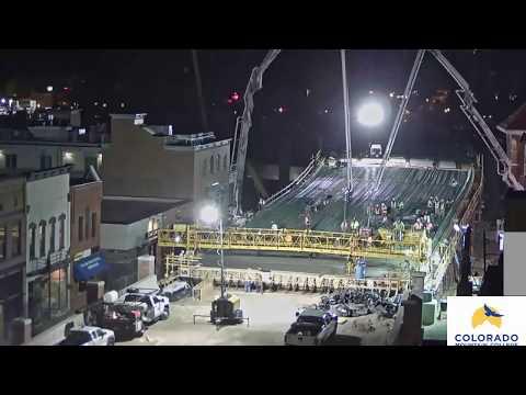 Grand Avenue Bridge Time-lapse:  Week 8 Pouring Concrete