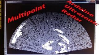 Arduino Multipoint Ultrasonic Radar