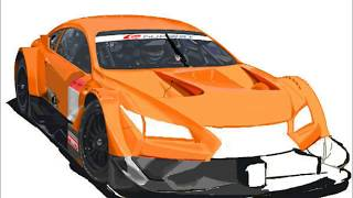 How to Draw a car /2014 TOYOTA LEXUS Racing GT500 /車のイラスト
