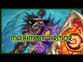 Hearthstone: Maximum armor (quest warrior)