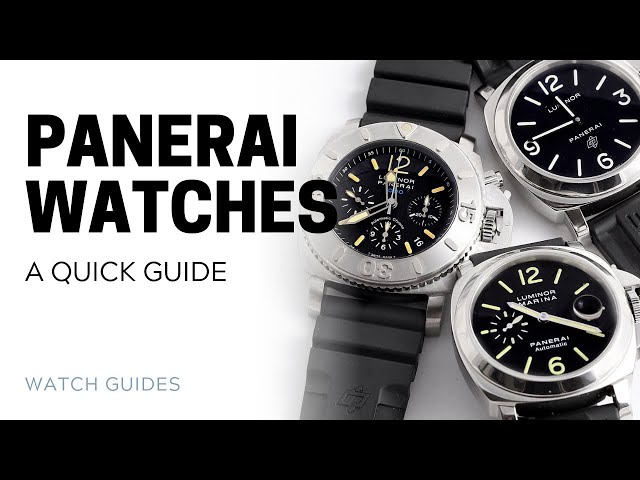 Panerai Watches: An Introduction | SwissWatchExpo [Panerai Watches]