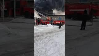 Пожар в Алматы ЖК Утеген склады