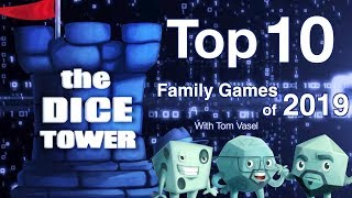 Top 10 Family Gaṁes of 2019 - with Tom Vasel