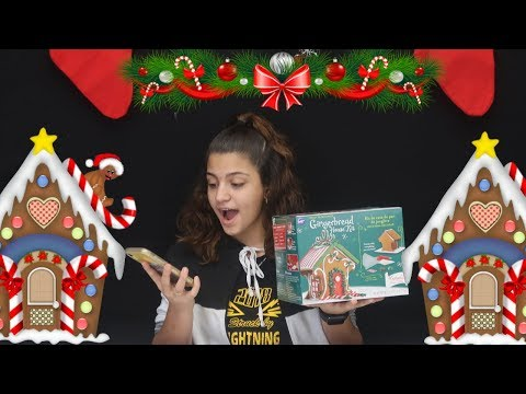 10 MINUTE GINGERBREAD HOUSE CHALLENGE ! KK'S WORLD