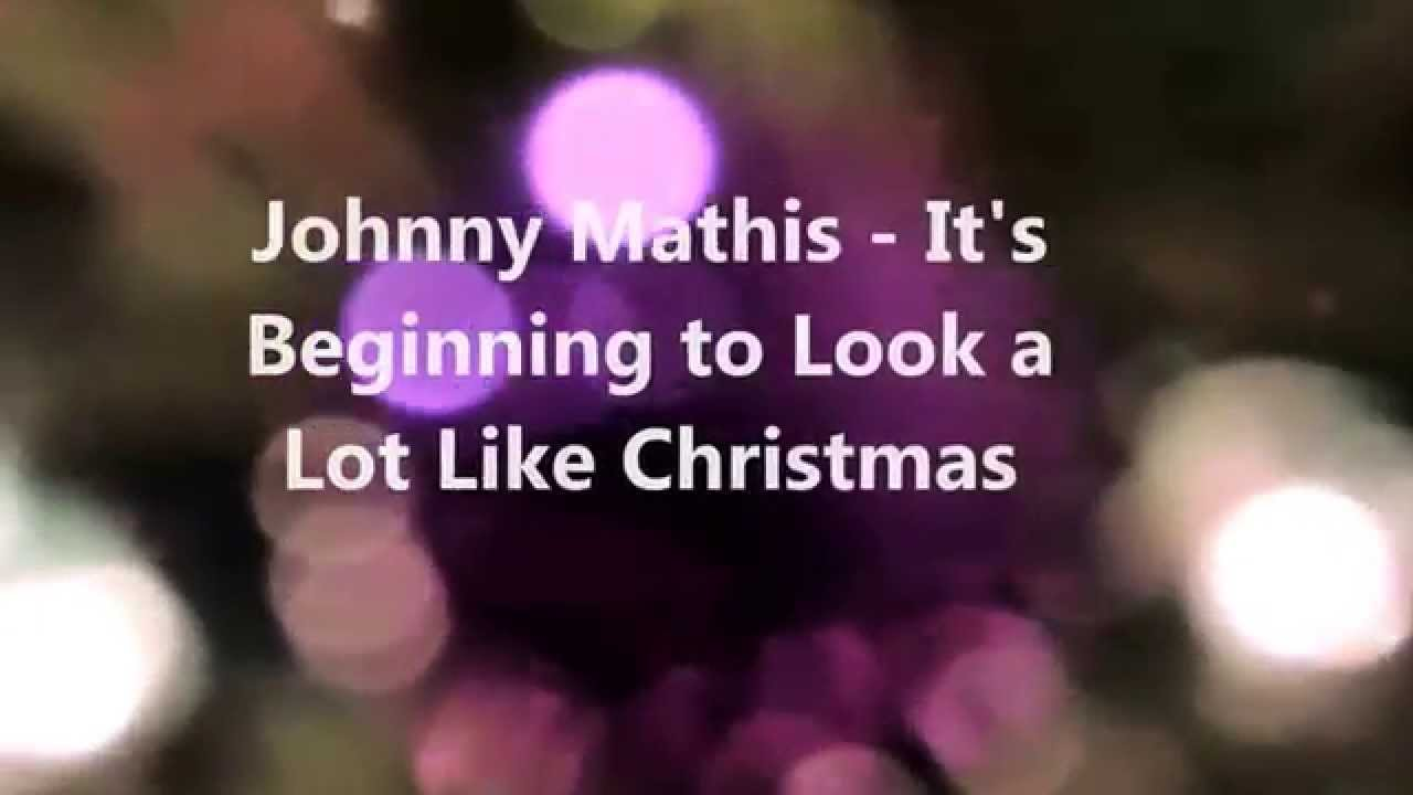 Johnny Mathis - It\'s Beginning to Look a Lot Like Christmas - YouTube