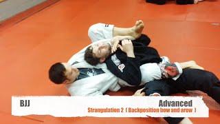 BJJ- Advanced- Strangulation2- bow and arrow