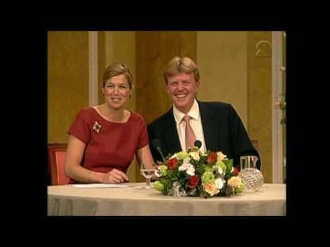toespraak maxima 40 jaar Verloving Prins van Oranje en Máxima Zorreguieta: persconferentie  toespraak maxima 40 jaar