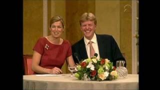 Verloving Prins van Oranje en Máxima Zorreguieta: persconferentie (2001)