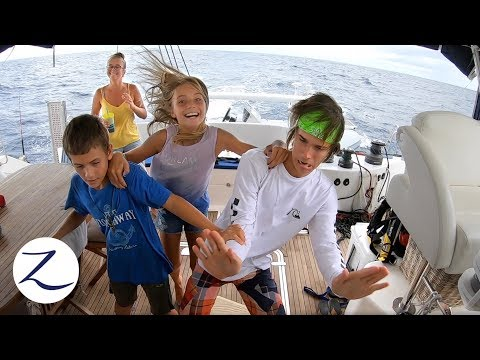 A DAY IN THE LIFE Of A Sailing Family (At Sea): Homeschool, Night Watch, Evading Pirates (Ep 81)