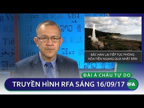 Thời sự sáng 16/9/2017| Bắc Hàn lại tiếp tục phóng hỏa tiễn ngang Nhật Bản | © Official RFA
