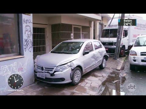 Motorista bêbado e sem habilitação atropela e mata idosa no RS | SBT Notícias (03/04/18)