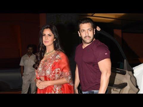 Salman Khan And Katrina Kaif Together At Arpita Khan's DIWALI Party 2017