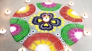 Beautiful Easy Rangoli Design : Learn How to Make Diwali Special Rangoli for Home Decoration