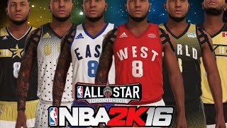 nba 2k16 jersey creation 2016 all star weekend celebrity game rising stars all star game