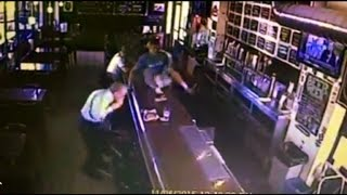 Watch Man Leap Over Bar to Save Customer Choking on Burger