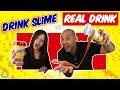 DRINK SLIME vs REAL DRINK 3! Bebida de Slime vs Bebida Real! Bego y Jordi! Momentos Divertidos