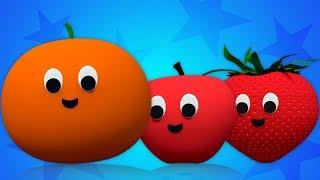 Плоды палец Семья | Детские рифмы | Фруктовая песня | Learn Fruits | Fruit Finger Family
