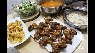 Bir Saatte İftar Menüsü Nasıl Hazırlanır?  Firinda Tavuk kanadi I Çorba IPilav I Salata