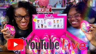 YouTube LIVE with The Froggys: Fan Mail   Q&A   Barbie Surprise Eggs