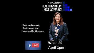 DeAnne Brabant #4 NZHSP Live Interview Series - Covid19 Response