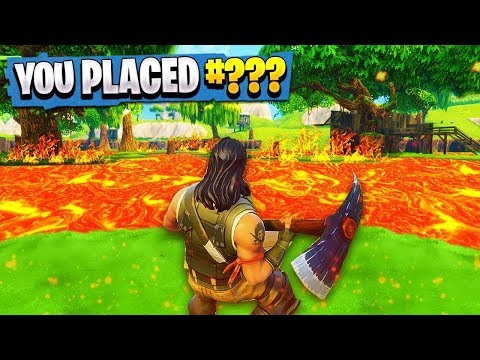 Fortnite - THE FLOOR IS LAVA CHALLENGE!