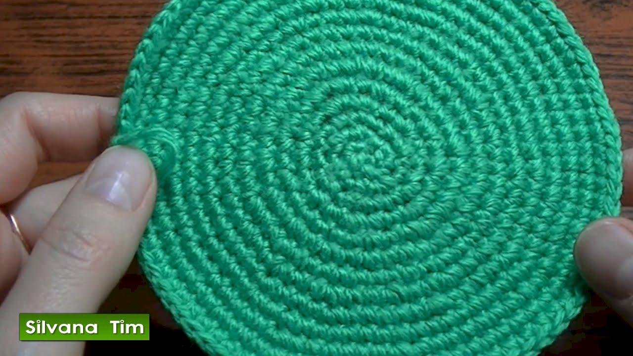 Tejido en redondo o Trabajo en círculo en crochet. Cómo tejer ...