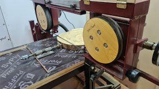 Гибрид ленточной пилы, гриндера и мини пилорамы 1ч /hybrid of band saw, grinder and mini sawmill p.1
