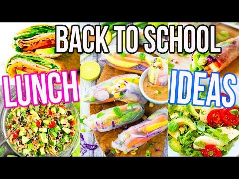 BACK TO SCHOOL LUNCH IDEAS!! Healthy + Easy!!
