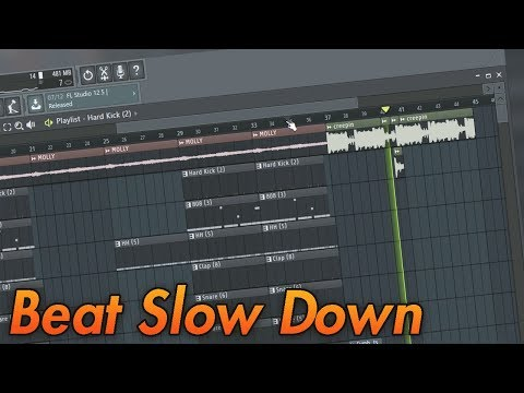 FL Studio 12 - Quick Tips - How to make a Beat Slow Down