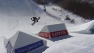 Jamie Anderson's Winning Slopestyle Run - South Korea Olympic Test Event 2016