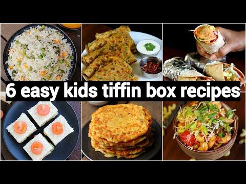 Monday To Saturday Kids Tiffin Box Recipes | 6 तरीके के टिफ़िन बच्चो के लिए | Kids Lunch Box Recipes
