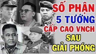 Số Phận Của 5 Tướng Đứng Đầu VNCH Ra Sao Sau Ngày Giải Phóng Miền Nam