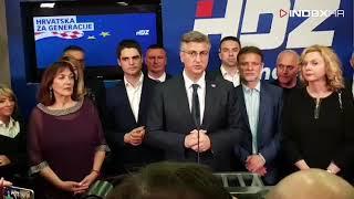 Plenkovićev gubitnički govor