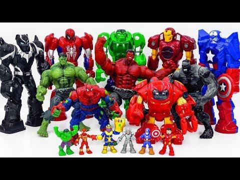 Power Rangers & Marvel Avengers Toys Pretend Play | HULK ARMY Smash Superhero Rescue Toy Battle