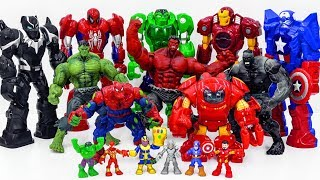 Power Rangers & Marvel Avengers Toys Pretend Play | HULK ARMY Smash Superhero Rescue Toy Battle