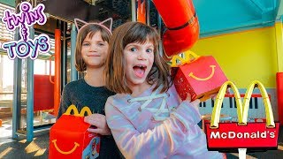 Twins Kate and Lilly go to McDonald