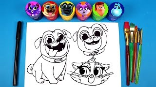 Disney Junior Puppy Dog Pals Drawing and Surprise Toys Bingo Rolly Hissy Bob ARF Rufus and Cupcake
