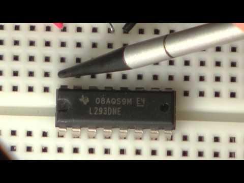 L293D — драйвер двигателей двухканальный Микросхема