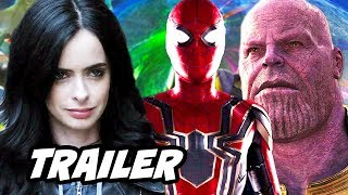Jessica Jones Season 2 Trailer - Spider Man Avengers Easter Eggs